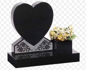 Black Heart with Side Vase